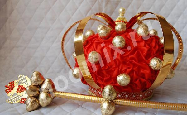 Букеты и композиции из конфет. Корона для царя. Московская область