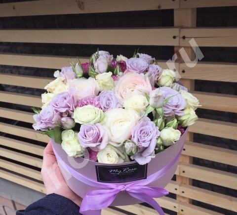Цветы в коробке розы Волгоград 101 роза, Волгоградская область