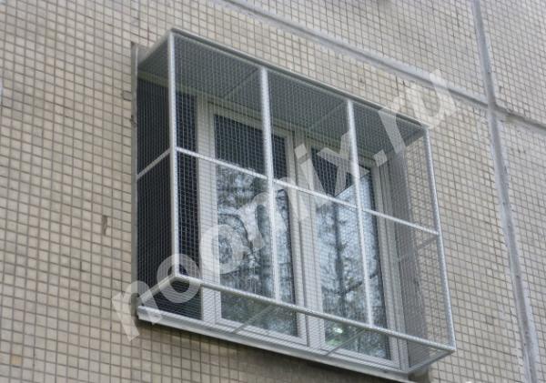 Антикошка клетки на окна для выгула кошек, москва.