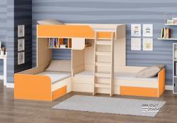 Детская двухъярусная кровать Трио