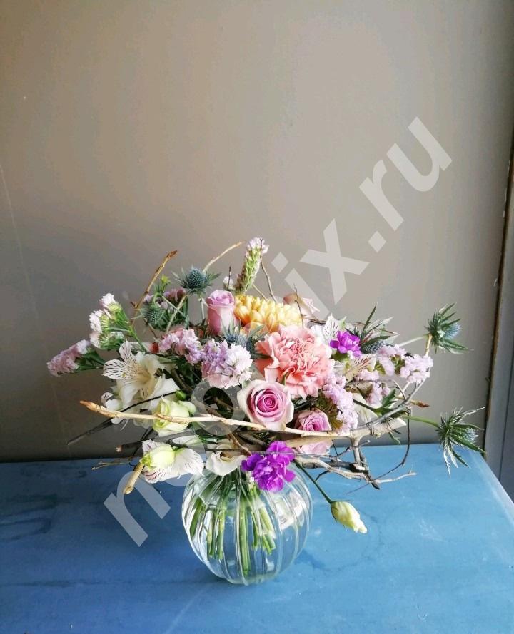 Эксклюзивные букеты из живых цветов и природного материала,  Новосибирск